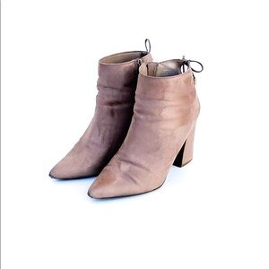Forever21 Tan Suede Bootie